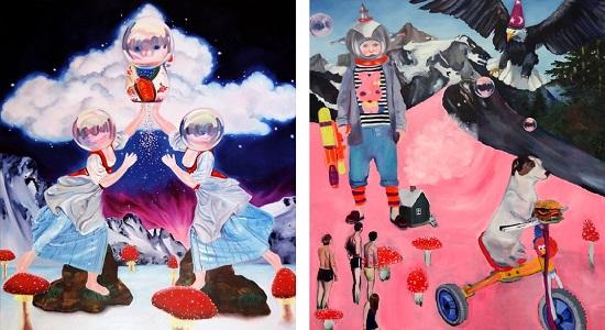2013-Celestial-Dust-80-x-70-x-2cm-oil-on-canvas-SUPER-FUTURE-KID