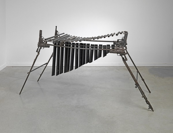 Pedro-Reyes-Imagine-Xylophone-2012-recycled-metal-113-x-125-x-62cm-ed.unique.-Courtesy-the-artist-and-Lisson-Gallery