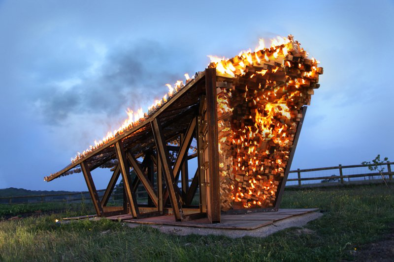 Burning Sculpture